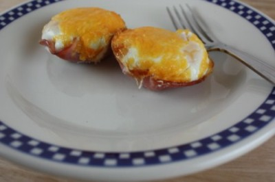 Baked Egg Cups from LynnsKitchenAdventures.com