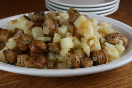 potatoes and sausage