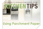using parchment paper