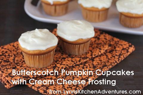 butterscotch pumpkin cupcakes