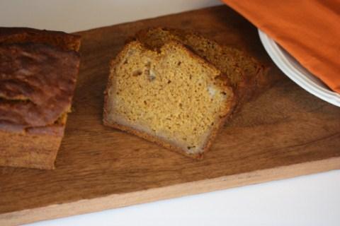 Gluten Free Pumpkin Banana Bread from LynnsKitchenAdventures.com