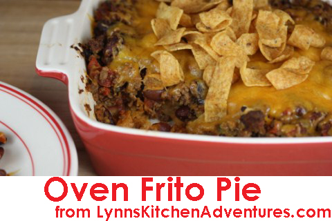 Oven Frito Pie from LynnsKitchenAdventures.com