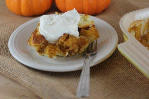 Pumpkin Cake Pudding from LynnsKitchenAdventures.com