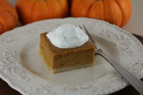 Pumpkin Pie Squares from LynnsKitchenAdventures.com