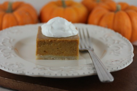 Pumpkin Pie Squares from LynnKitchenAdventures.com