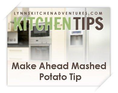 make ahead mashed potato tip