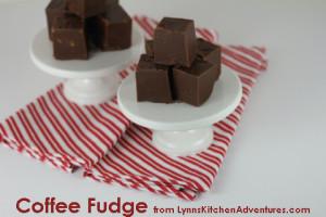 Coffee Fudge from LynnsKitchenAdventures.com