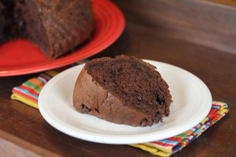 Easy Triple Chocolate Cake from LynnsKitchenAdventures.com