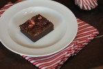 Gluten Free Candy Cane Brownies from LynnsKitchenAdventures.com