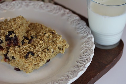 Orange Cranberry Baked Oatmeal from LynnsKitchenAdventures.com