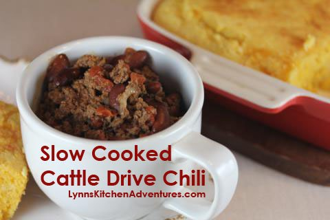 slow cooked cattle drive chili