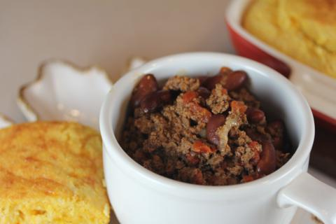 Cattle Drive Chili from LynnsKitchenAdventures.com