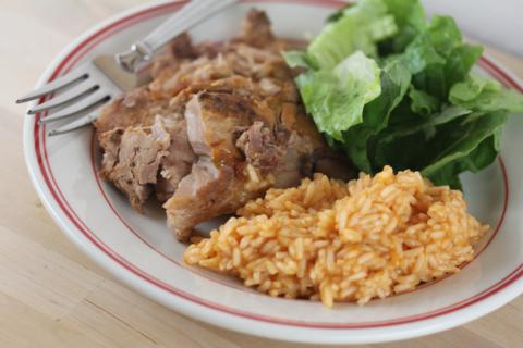 Crock Pot Mexican Pork Chops from LynnsKitchenAdventures.com