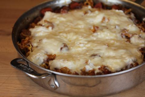 Easy Skillet Lasagna from LynnsKitchenAdventures.com