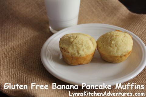 Gluten Free Banana Pancake Muffins- Easy Gluten Free breakfast