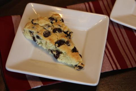 Gluten Free Chocolate Cherry Scones