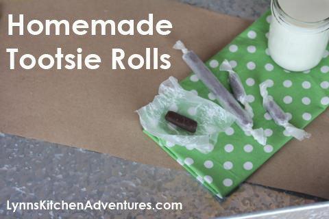 Homemade Tootsie Rolls from LynnsKitchenAdventures.com