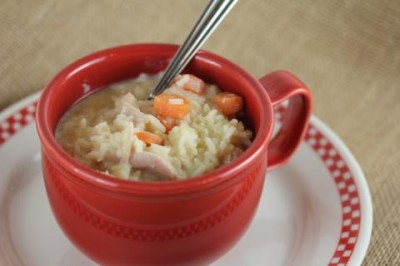 Quick and Easy Chicken and Rice Soup from LynnsKitchenAdventures.com