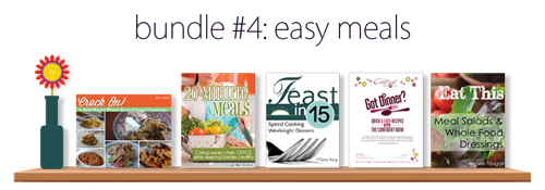 Easy Meals ebook Bundle – Five ebooks for $7.40