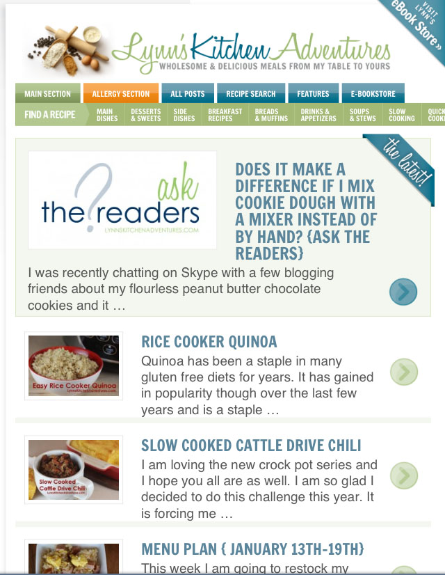 Recipe Index Updates and New Options For Email Subscribers