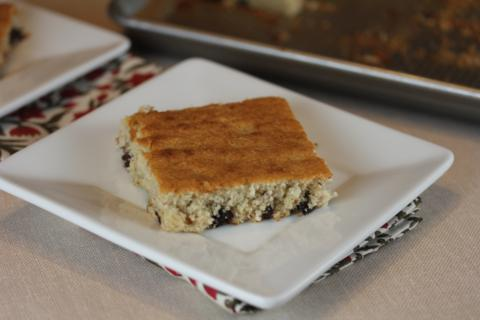 Gluten Free Chocolate Chip Banana bars