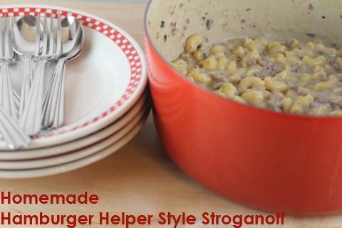Homemade Hamburger Helper Style Stroganoff
