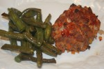 Flora's Mini Turkey Meatloaves and Green Beans