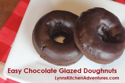 Easy Chocolate Glazed Doughnuts