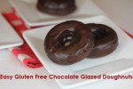 Easy Gluten Free Chocolate Glazed Doughnuts