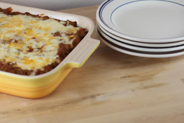 Cheesy Mexican Beef and Beans Casserole