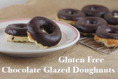 gluten free chocolate glazed doughnuts