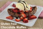 Gluten Free Chocolate Waffles