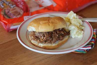 Barbecue Pork On King's Hawaiian Buns