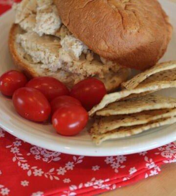 ceasar style chicken salad sandwiches