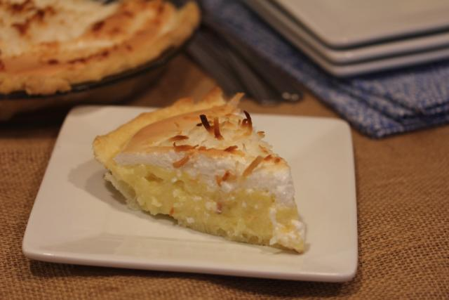 Coconut Cream Pie with Meringue Topping