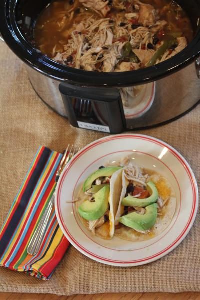 Easy Slow Cooked Chicken Fajitas