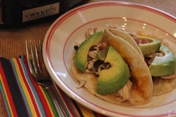 Easy Slow Cooked Chicken Fajitas_