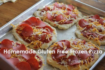 Homemade Gluten Free Frozen Pizza