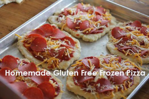 Homemade Gluten Free Frozen Pizza