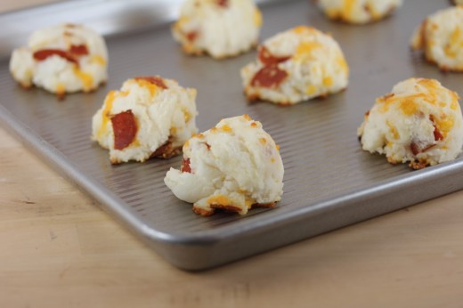 Pepperoni Biscuit Bites
