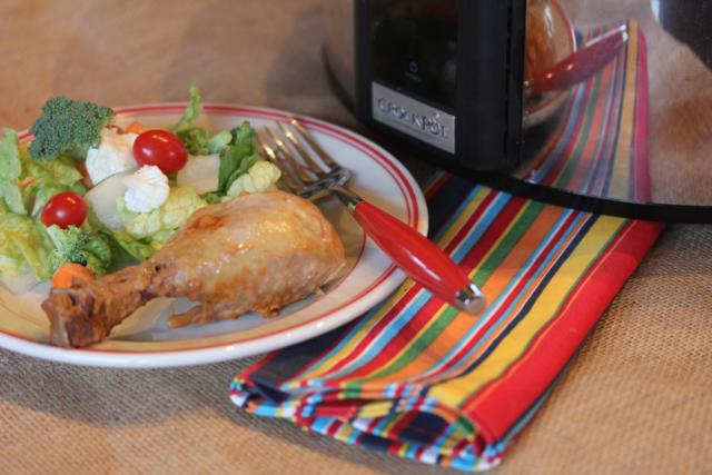 Slow Cooked Barbecue Ranch Chicken Legs_