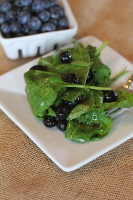 Blueberry Spinach Salad -