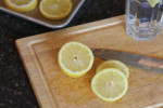 Freezing Lemons for Easy Lemon Water {Kitchen Tip}