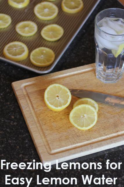 Freezing Lemons for Ice Water