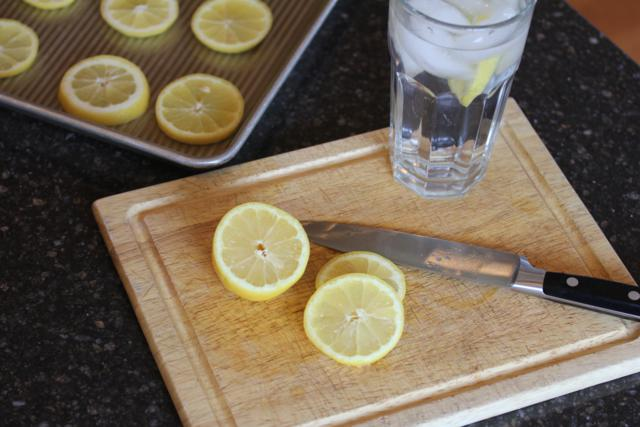 Freezing Lemons for Ice Water 4