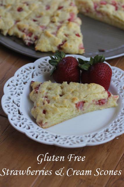 GlutenFreeStrawberriesandCreamScones