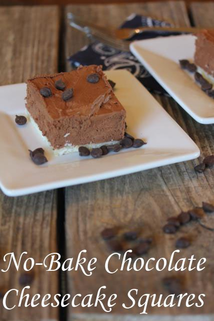 No Bake Chocolate Cheesecake Squares