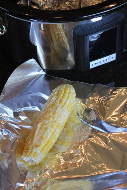 Slow Cooked Corn on the Cob_