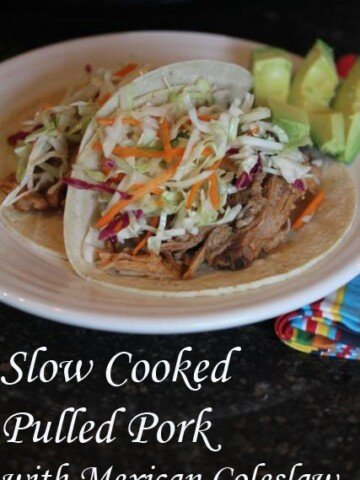 Slow Cooked Pulled Pork with Mexican Cole Slaw
