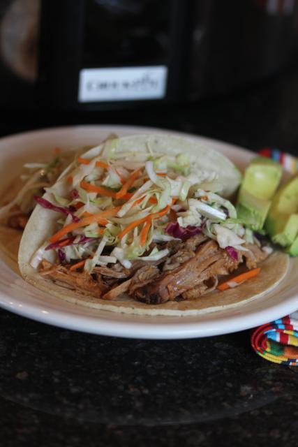 Slow Cooked Pulled Pork with Mexican Coleslaw